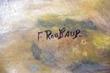 Франц Алексе́евич Рубо́ Масло на деревянной доске photo 3
