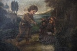 Иисус, картина маслом на полотне ранний 18 вв. Рама