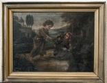 Иисус, картина маслом на полотне ранний 18 вв. Рама photo 2