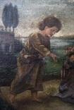 Иисус, картина маслом на полотне ранний 18 вв. Рама photo 3