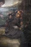 Иисус, картина маслом на полотне ранний 18 вв. Рама photo 4