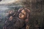 Иисус, картина маслом на полотне ранний 18 вв. Рама photo 5