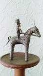 Бронзовая статуэтка, всадник на лошади. Индия XIX в