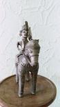Бронзовая статуэтка, всадник на лошади. Индия XIX в photo 2