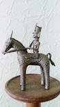 Бронзовая статуэтка, всадник на лошади. Индия XIX в photo 3
