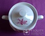 Сахарница Цветы вишни. Фарфор, позолота., фото №3