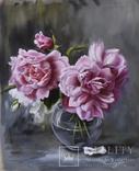 Розы в стеклянной вазе, фото №3
