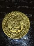 Золото динар Саманиды,Наср б. Ахмад, 321 г.х.,Нишапур 914-943 photo 2
