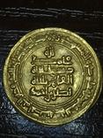 Золото динар Саманиды,Наср б. Ахмад, 321 г.х.,Нишапур 914-943 photo 1