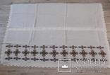 Вишита скатертина на конопляному полотні в чудовому стані, фото №4