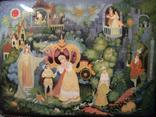 315 Шкатулка Палех, Золушка, ручная роспись., фото №3