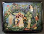 315 Шкатулка Палех, Золушка, ручная роспись., фото №4