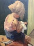 Картина «Девочка с куклой». Художник: Bernhardt Daniel Rolfsted, дата рождения 1905 г.