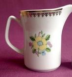 Сливочник / молочник  Жёлтые цветы. Фарфор, позолота, Польша., фото №3