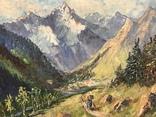 Картина «Пастух», норвежский пейзаж. O. Hartmeyer