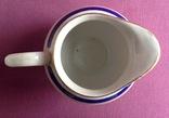 Сливочник / молочник  Синяя кайма. Фарфор, позолота, Баранивка., фото №6