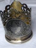 Подстаканник серебро 875 п-ба чернение, позолота
