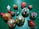 Новорічні іграшки СССР зі скла