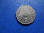 2  рупии 2000  Индия   (Ж.1.36)~, фото №3