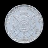 5 Франков 1870 А Наполеон ІІІ, Франция