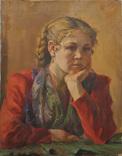 Портрет девушки х.м. 1954г