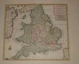 1744 Оригинал. Старинная карта. 55*43 см. Англия, Британские острова.
