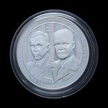 1 Доллар 2013 Джордж Маршалл и Дуайт Эйзенхауэр (Серебро 0.900, 26.73г), США