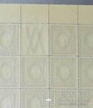 Марочный лист Россия 1917 Врем. прав. 3 р. 50 к. зубцы 12 1-2. верт. мел. сет. 50 шт., фото №6