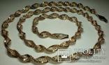 Серебреная цепочка в позолоте Италия, фото №2