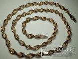 Серебреная цепочка в позолоте Италия, фото №3