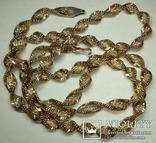 Серебреная цепочка в позолоте Италия, фото №7