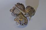 Брошь ''Бабочка''. Серебро, позолота, эмаль, филигрань. photo 8