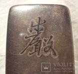Серебряная таблетница, Япония 19 век., фото №6