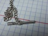 Серебряный набор .браслет,цепочка с кулоном Европа., фото №6