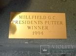 "Бронзовая скульптура на камне ""Победителю President's Putter"" гольф. photo 8"