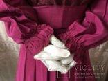 Крепдешиновое платье ярко малиновое 1950 год., фото №4