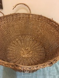 Антикварная большая корзина 1900 год.красивое плетение, фото №5