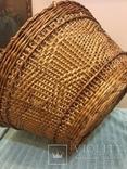 Антикварная большая корзина 1900 год.красивое плетение, фото №7