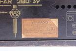 Ламповий радіоприймач VEFAR 2BD/39 (радиоприемник) photo 7