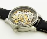 Часы наручные марьяж скелетон OMEGA нержавеющая сталь, гравировка женщина photo 5