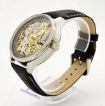 Часы наручные марьяж скелетон OMEGA нержавеющая сталь, гравировка женщина photo 8