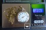 Часы карманные 1900 год, женские Remontoir Cylindre 10 Rubis, Швейцария.