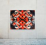 Акварельная абстракция 120х100 см для интерьера покрыта лаком (Ю. Смаль)