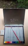 Карандаши акварельные Маrcо Raffine 24 цвета в металлическом пенале 7120-24TN