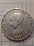 5 песет 1890 г. Испания серебро photo 1