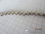 Колье серебро 925 синий камень цирконий, фото №7