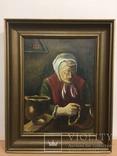 Женщина с глиняным сосудом. Привезена из Дании