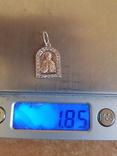 Нательная иконка. Серебро 925. Позолота. Вес 1.85г, фото №6