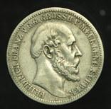 Меленбург Шверин 2 марки 1876 серебро