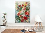 """""""Тропічні квіти"""" картина олійними фарбами на полотні 180х135 см лофт. Ю. Смаль"""